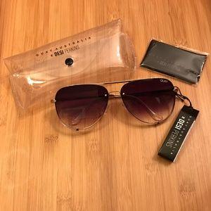 Quay Australia X Desi Perkins Rimless Sunglasses